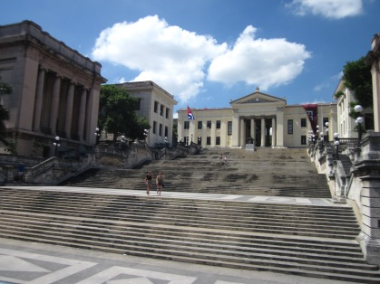 The steps leading up to the University of Havana.